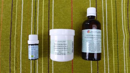 ingrédients spéciaux produits de soin maison