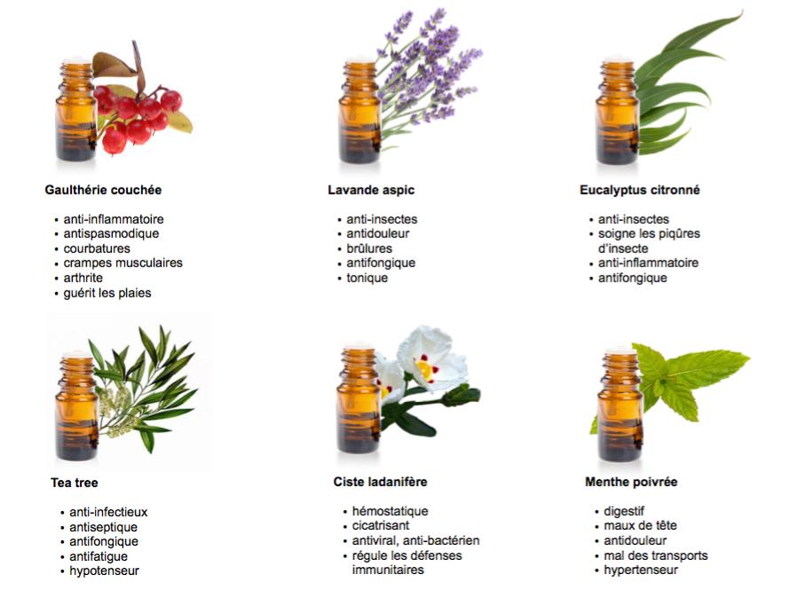 huiles essentielles en randonnee ou en marche