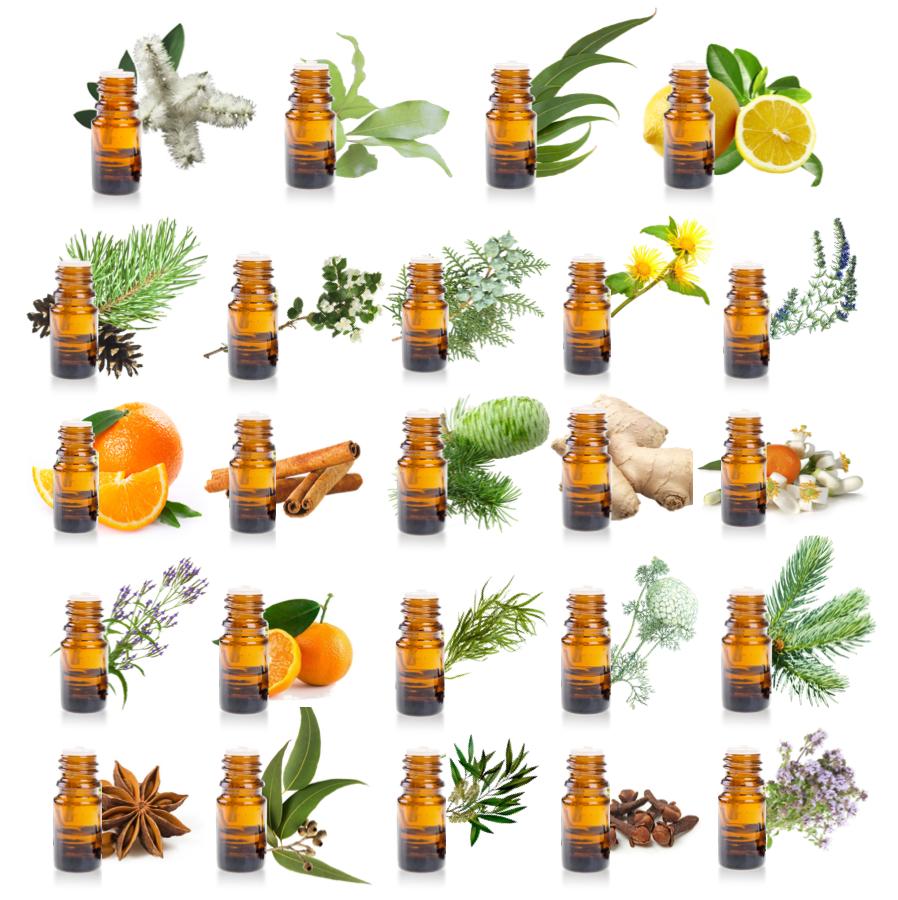 calendrier de l'avent avec 24 huiles essentielles