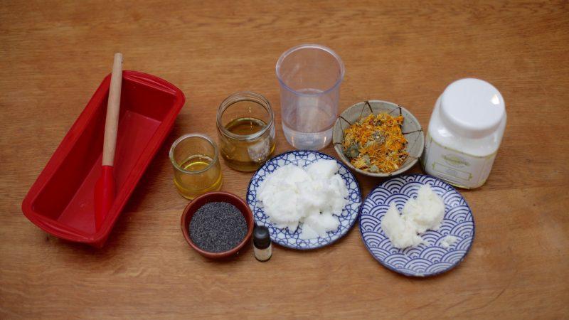 ingrédients savon exfoliant ylang ylang SAF