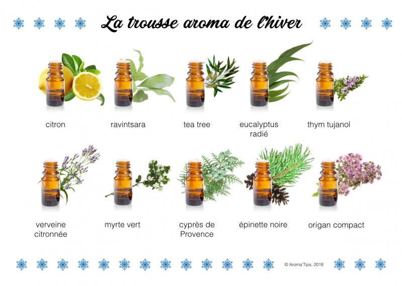trousse aromathérapie de l'hiver