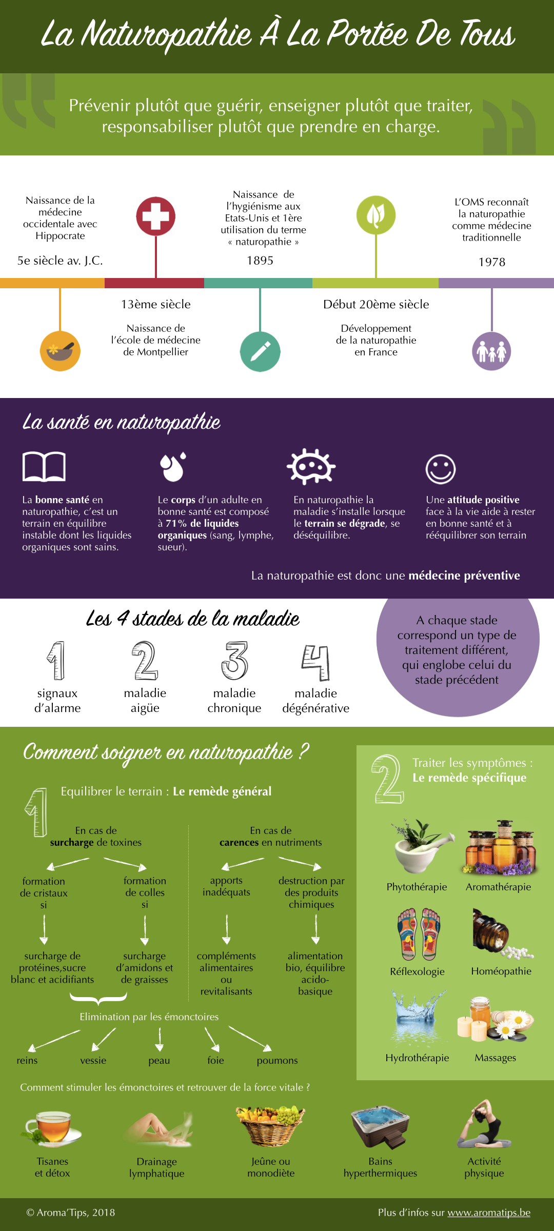 Infographie sur la naturopathie