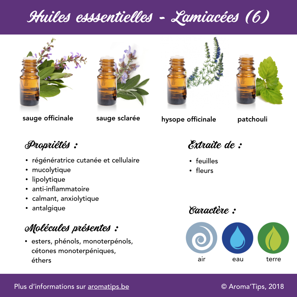 Lamiacees en huiles essentielles