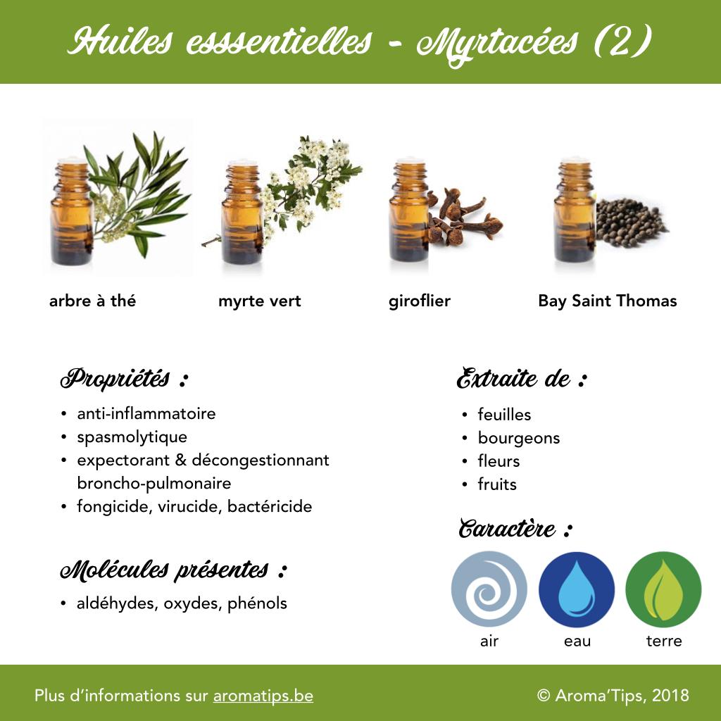 Myrtacees en huiles essentielles