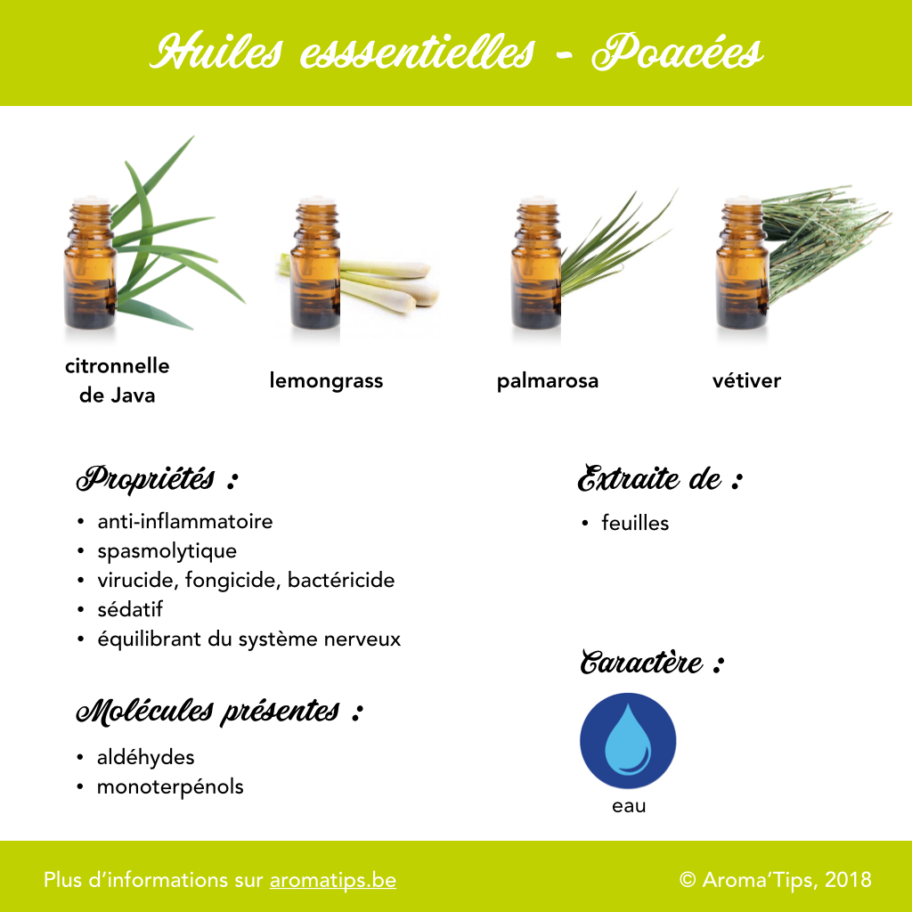 Poacees en huiles essentielles