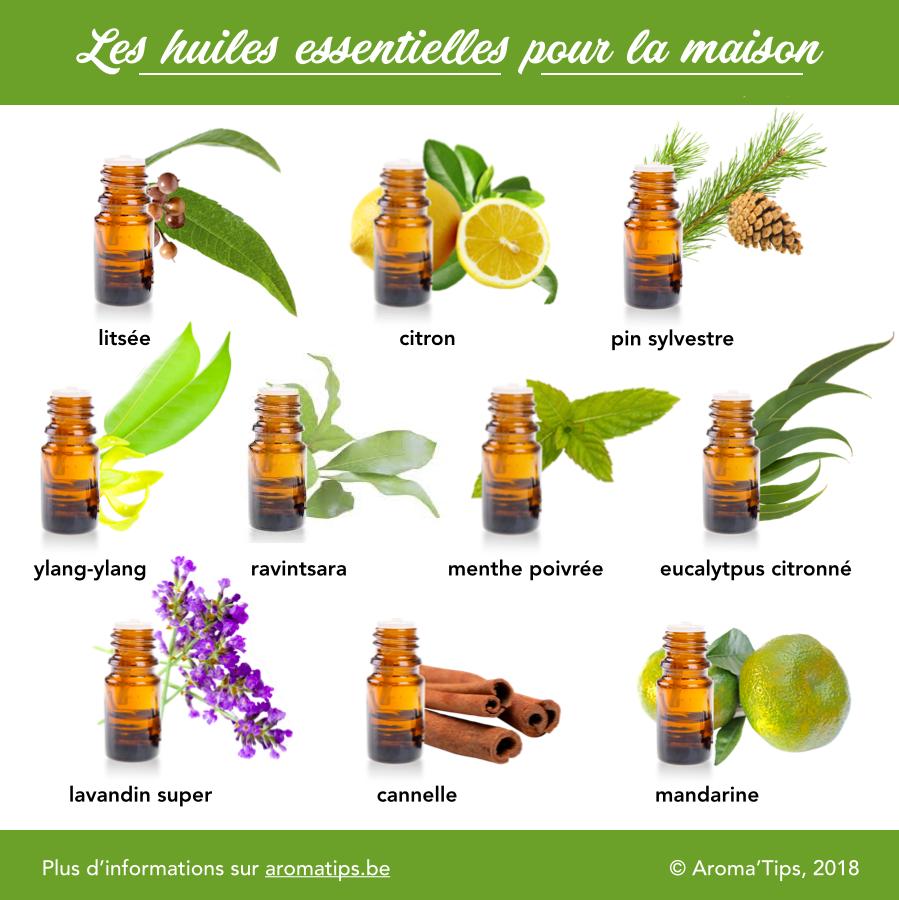 10 huiles essentielles pour la maison