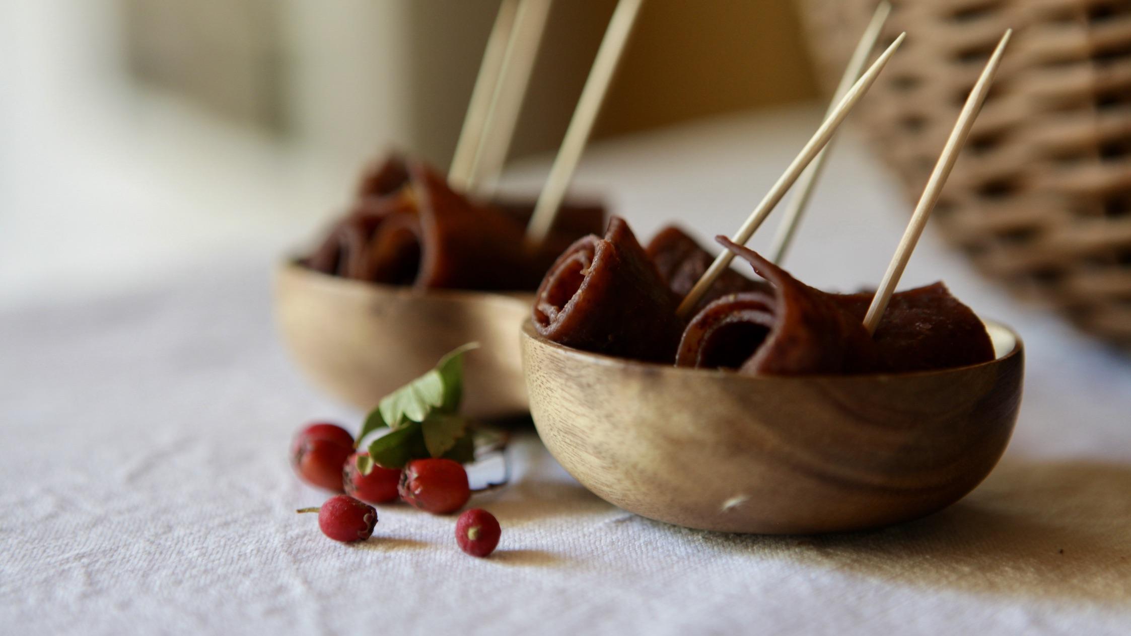 cuir de fruits cenelles